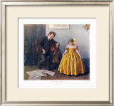 Chaconne Cellist and a Girl Print by Douglas Adams