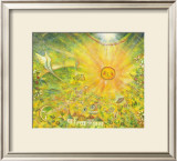 Keep the Sun in Your Mind in Gold Color Framed Giclee Print by Miyuki Hasekura