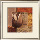 Romantic Tulip Print by Anne Courtland