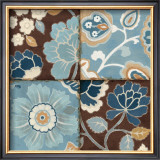 Patchwork Motif Blue II Print by Alain Pelletier