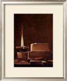 Kerze und Bucher Candlelight Study Prints by Georges de La Tour