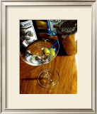 A Perfect Martini Framed Giclee Print by Steve Ash