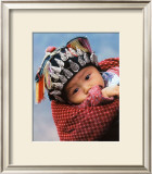 Miao Baby Wearing Traditional Hat Posters by Keren Su