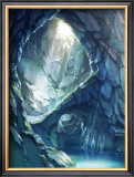 Blue Color Cave of Mysterious Light Framed Giclee Print by Kyo Nakayama