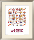 A-Z of Dieting Prints by Nicola Streeten