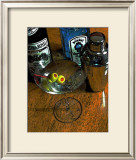 Martini with Two Olives on the Wood Table Framed Giclee Print by Steve Ash