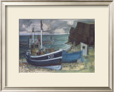 EAST COAST FISHING BOATS Limited Edition Framed Print by JOSEPH MAXWELL