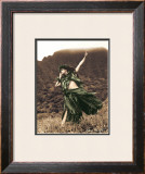 Primitive Hula, Hula Girl Art by Alan Houghton
