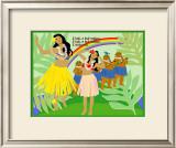 Hula Girls in Paradise Island, Hawaii Posters by Noriko Sakura