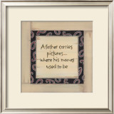 A Father Carries Prints by Karen Tribett
