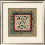 Peace Joy Hope Art by Karen Tribett