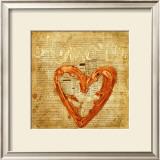 Coeur Amore Print by Roberta Ricchini