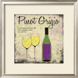 Pinot Grigio Print by Louise Carey