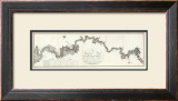 General Map of The River Ohio, c.1796 Framed Giclee Print by George Henri Victor Collot