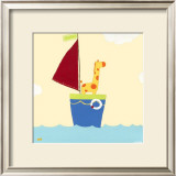 Sailboat Adventure I Prints by Erica J. Vess