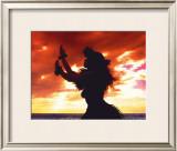 Hula Sunset Framed Giclee Print by Randy Jay Braun
