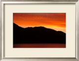 Sunset Mountain Framed Giclee Print by Charles Glover