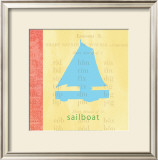 Vintage Toys Sailboat Art by Paula Scaletta