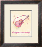 Little Pink Guitar Posters by Catherine Richards