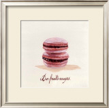 Macaron aux Fruits Rouges Prints by Pascal Cessou