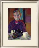 Portrait of Mrs. Mounter Print by Harold Gilman