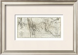 Map of Lewis and Clark's Track, Across the Western Portion of North America, c.1814 Framed Giclee Print by  Lewis & Clark