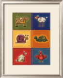 Six Petits Animals Posters by Raphaele Goisque