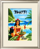 Tahiti Framed Giclee Print by Caroline Haliday