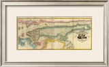 New York City & County, c.1832 Framed Giclee Print by David H. Burr