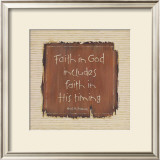 Faith in God Art by Karen Tribett