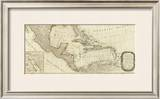 New Map of North America, with the West India Islands (Southern section), c.1786 Framed Giclee Print by Thomas Pownall