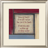 Young Boys Print by Karen Tribett