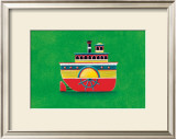 Mississippi Steam Boat Prints by Simon Hart