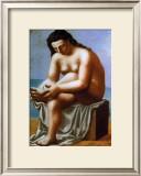 Femme Nue S'Essuyant le Pied, c.1921 Art by Pablo Picasso