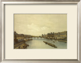 View of the Louvre from the Seine Print by G.Ph. Benoist