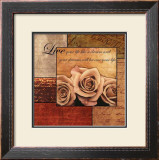 Romantic Roses Print by Anne Courtland