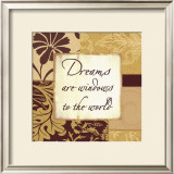 Butternut and Cocoa: Dreams Prints by Marilu Windvand