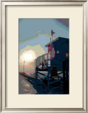 Pier, Venice Beach, California Framed Giclee Print by Steve Ash