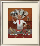 Teppan, Japanese Chef Framed Giclee Print by John Howard