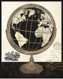 Antique French Globe Poster by Devon Ross