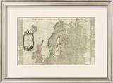 Northern Europe Divided into its Empires, Kingdoms, States, Republics, c.1787 Framed Giclee Print by Thomas Kitchin