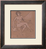Sitting Nude Study Art by Eric Young