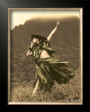 Primitive Hula, Hula Girl Poster by Alan Houghton