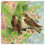 Finches and Blossoms Poster by Walter Robertson