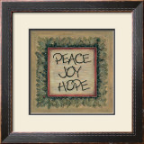 Peace Joy Hope Print by Karen Tribett
