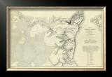 Civil War: Official Plan of The Siege of Yorktown Virginia, c.1862 Framed Giclee Print by Henry L. Abbot