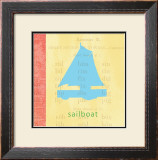 Vintage Toys Sailboat Print by Paula Scaletta