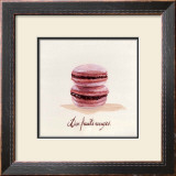 Macaron aux Fruits Rouges Poster by Pascal Cessou