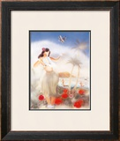 Hula Girl Framed Giclee Print by Yu Shirofani