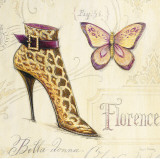Flirty Boot Prints by Angela Staehling